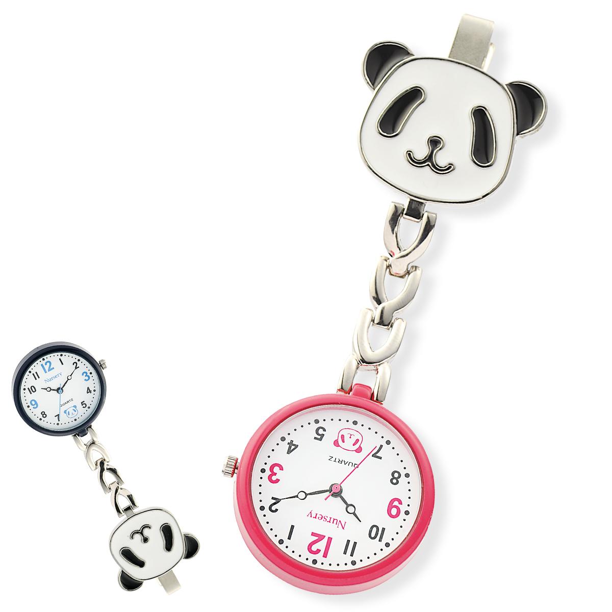 13646 パンダ クリップウォッチ【ナース 小物 ナースグッズ 看護師 医療 ウォッチ 時計】