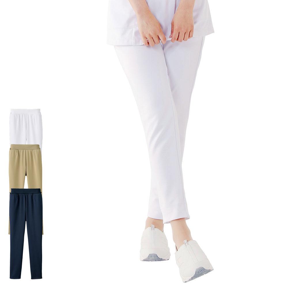 大人気「イージーパンツ」にスキニ―タイプが登場!裾上げフリータイプor裾上げ済タイプを選べます。 2160 イージースキニーパンツ(裾上げ済)【医療 ナース 看護師 白衣 女性 スクラブパンツ ナースリー】