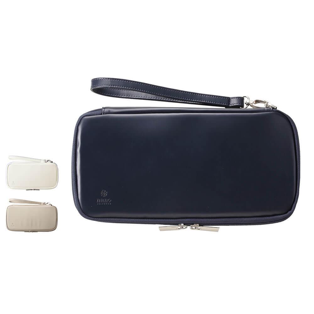 ステートをかっこよく収納 充実ポケットで持ち運びに便利な聴診器ケース NU15646 国産品 ナノ ユニバース 聴診器ケース ナース 介護 小物 ナースリー グッズ 価格 交渉 送料無料 看護 医療 ステート