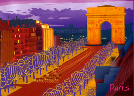 フランスより輸入のポストカード フランス直輸入 セール商品 ポストカード 凱旋門 再入荷/予約販売! パリ