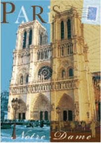 フランスより輸入のポストカード フランス直輸入 ポストカード パリ 出荷 贈り物