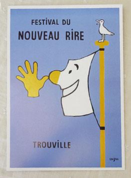 フランスサビニャックポストカード ビックサイズ フランスポストカード 笑いのまつり 特価キャンペーン savignac セール特価 BIG