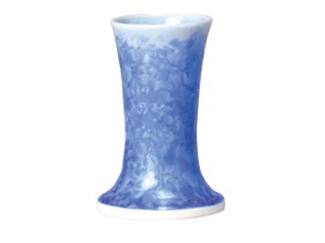 【全品ポイント10倍】京都 清水焼【花結晶】 花立 藍色[お花立て]