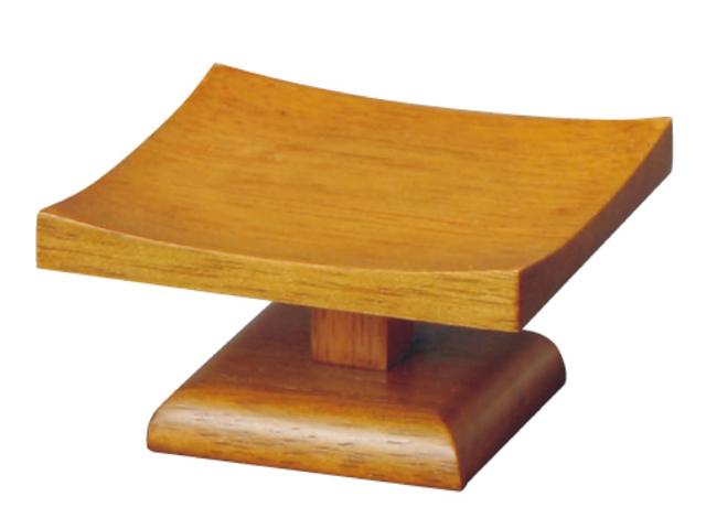 現代的なデザインの高坏 お供物台 正規取扱店 が 3 980円以上で送料無料 半対 登場大人気アイテム 低高月 木製 ブラウン色 3.0寸