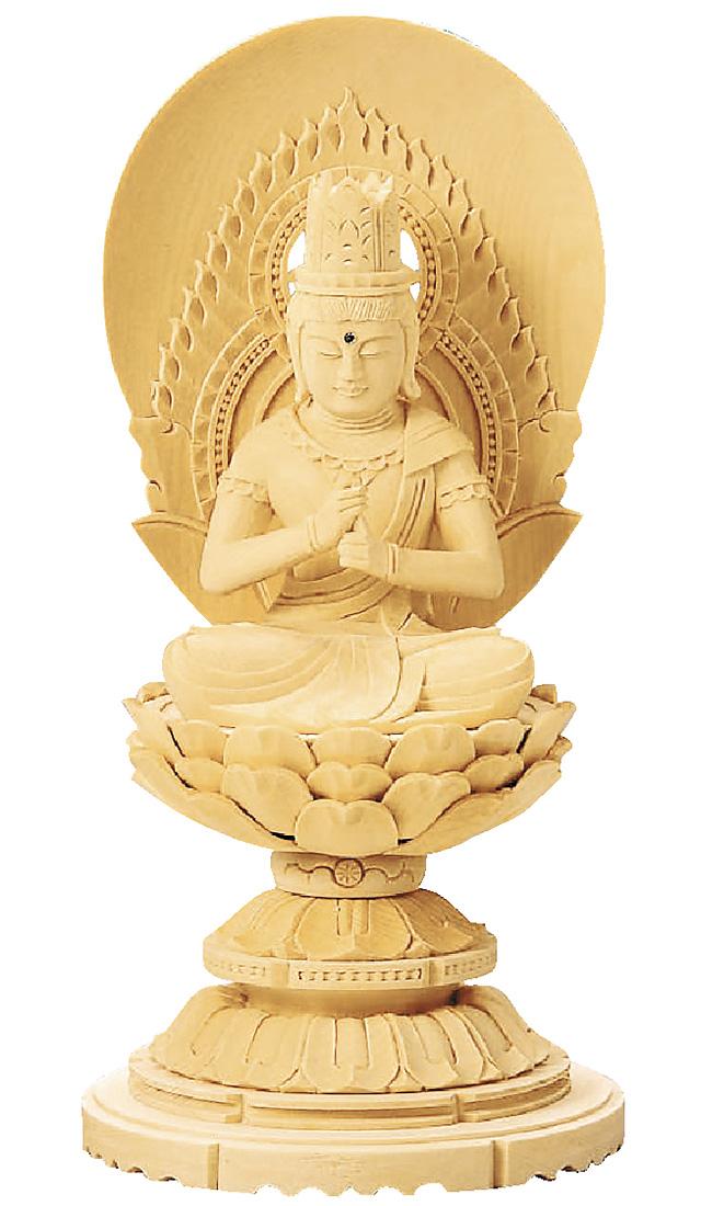 送料無料 厳選された素材を使用した本格志向の仏像です 仏像 直送商品 総白木 丸台座 贈り物 無宗派 大日如来 3.0寸 金泥書 真言宗