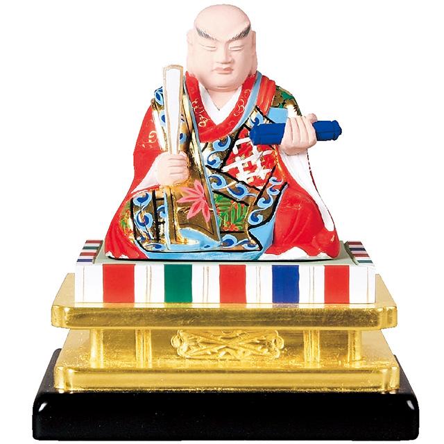 仏像『木製 彩色 日蓮 3.0寸』[日蓮宗]