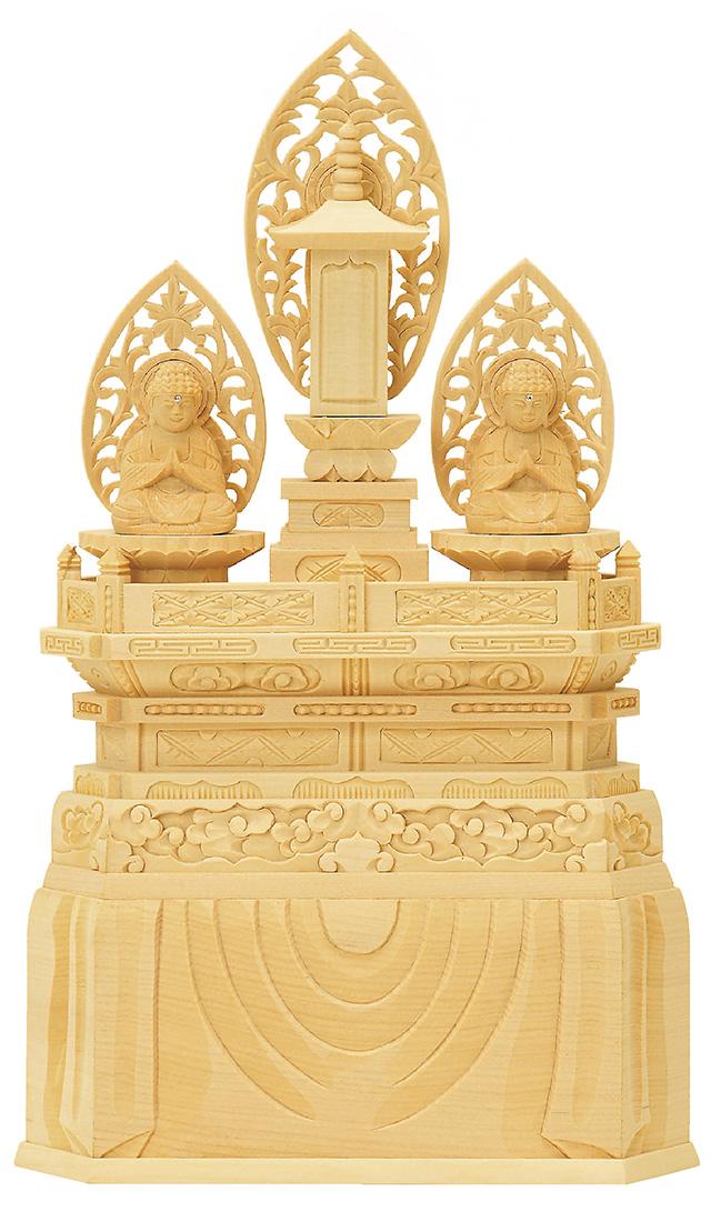 仏像『総白木 三宝尊 1.2寸』[日蓮宗]