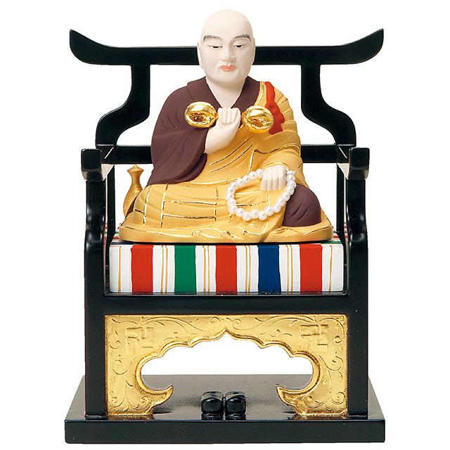 【全品ポイント10倍】仏像『木製上彩色 弘法大師 2.0寸』[真言宗][弘法大師空海]