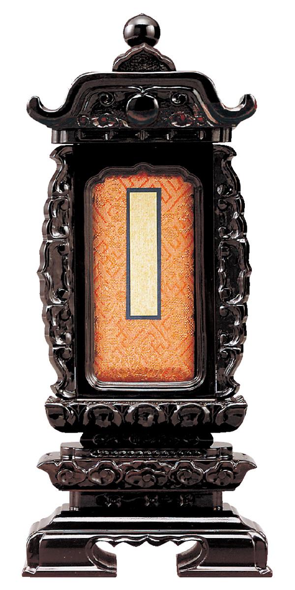位牌【過去帳回出位牌】紫檀 袖付二重過去帳回 6.0寸【送料無料】[唐木位牌][札位牌][回出位牌][繰り出し位牌][繰出し位牌][くりだし位牌][法名][過去帳位牌][6寸][6.0号][6号]