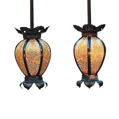 高品質の灯籠が送料無料 照明の有無もお選びいただけます 真鍮 陰雲型 灯籠 彩色鳳凰透 ◆在庫限り◆ 茶ブロンズ 爆売り 中