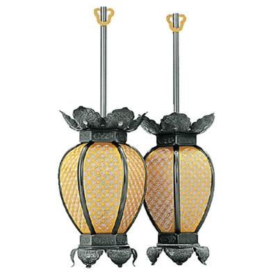 真鍮 七宝型 灯籠 イブシ 小