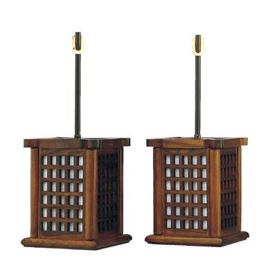 高品質の灯籠が送料無料 照明の有無もお選びいただけます 送料無料激安祭 唐木吊灯籠 美品 格子