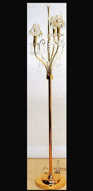 【照明】高級エジプトクリスタルシャンデリアフロアーランプ スタンドランプ3灯(ゴールド) 10P27May16