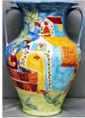 傘立 花瓶【イタリア製 ラムーザ】アンブレラスタンド 陶器かさ立て フラワーアレンジ(大きなお家) 10P27May16