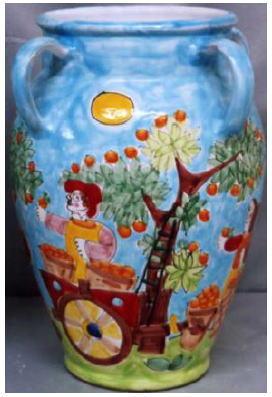 傘立 花瓶【イタリア製 ラムーザ】アンブレラスタンド 陶器かさ立て フラワーアレンジ(豊作) 10P27May16