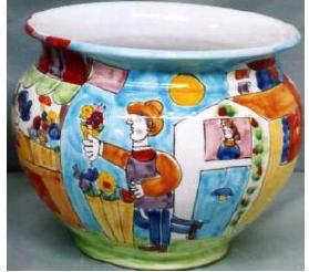プランター 花瓶【イタリア製 ラムーザ】カラフル陶器の愉快なプランター フラワーアレンジ 10P27May16