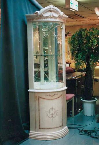 【イタリア製家具 ガラスキャビネット ガラスショーケース(1枚扉) ボード /家具 収納 10P27May16