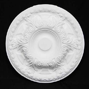 【天井装飾】【メダリオン】【シーリングオーナメント】φ495 ホワイト 白 シャンデリア装飾 10P27May16