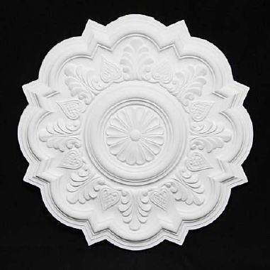 【天井装飾】【メダリオン】【シーリングオーナメント】φ525 ホワイト 白 シャンデリア装飾 10P27May16