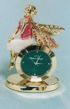 フェアリー時計 置物 (スワロフスキークリスタル使用)