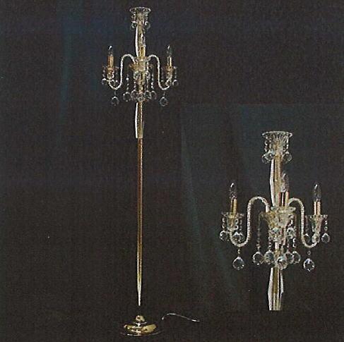 【照明】高級エジプトクリスタルシャンデリアフロアーランプ スタンドランプ(ゴールド) 10P27May16