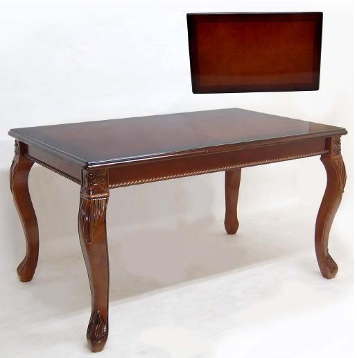 【イタリアスタイル家具】猫脚イニングテーブル  (ブラウン)W138