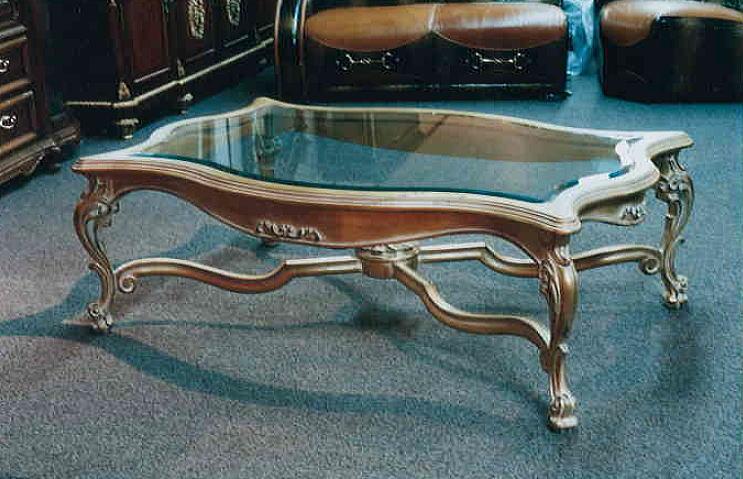 【イタリア家具が安い店】【イタリア ランポール】リビング ガラスセンターテーブル