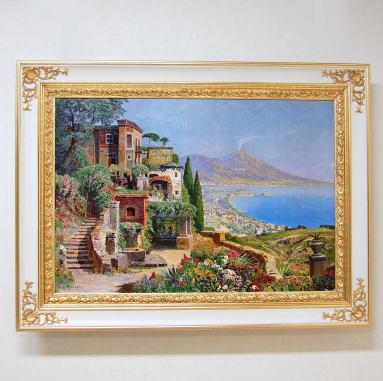 額縁 絵画 イタリア製 アートフレーム 額絵(ポンペイ)123*92 9kg