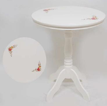 ハンドペイントテーブル ホワイト