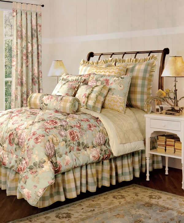 【アウトレット価格】 ジェニファーテイラーChesapeake ダブルベッド寝具9点セット 10P27May16