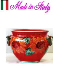 【イタリア製】プランター テラコッタ  花瓶 10P27May16