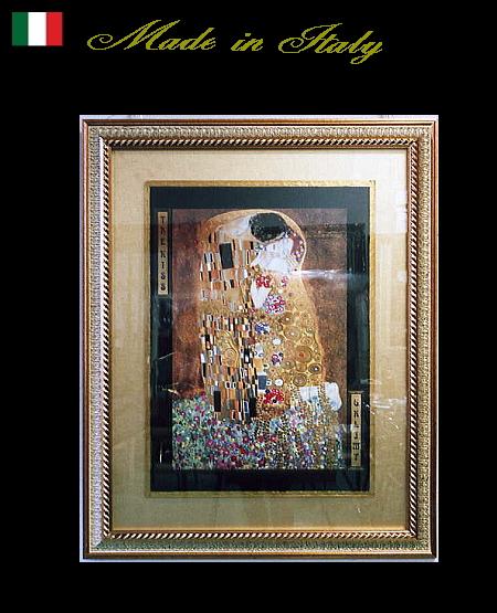 【代引不可】額絵 イタリア製アートフレーム【クリムト】 /絵画/花/アンティーク ゴールド 82×102 10kg 10P27May16
