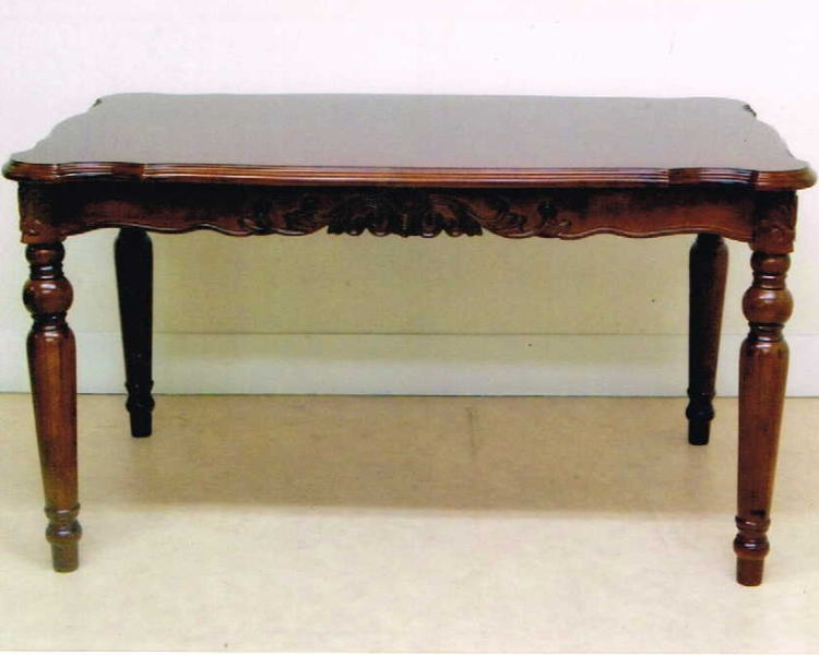 アンティークな象嵌細工のダイニングテーブル 幅141 10P27May16
