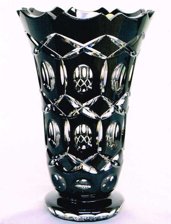 チェコ製 花瓶 ブラック 10P27May16