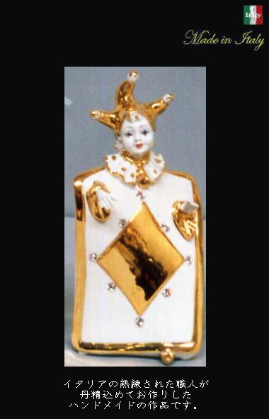 陶器置き物  トランプエンジェル イタリア製ハイクラスインテリア 天使 プレゼント 10P27May16