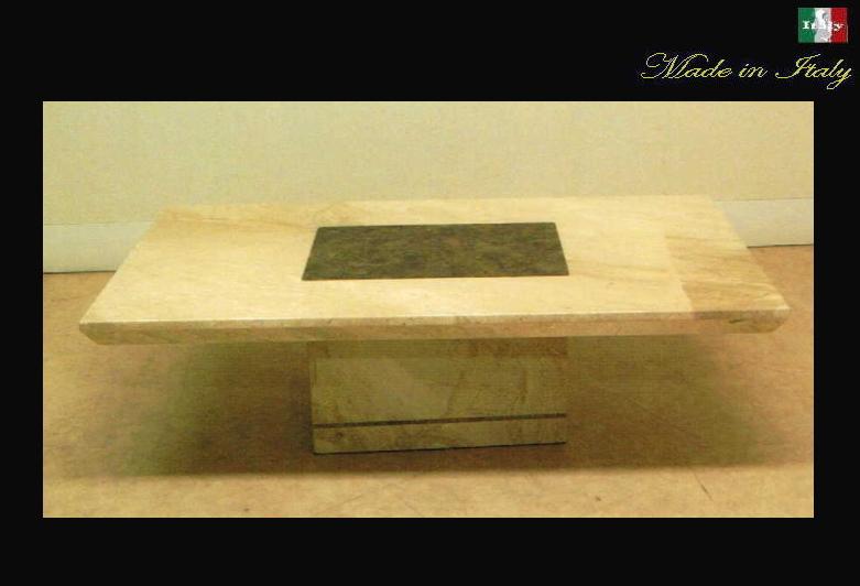 イタリア製 天然大理石のセンターテーブル トラバーチンインレールチィド 10P27May16