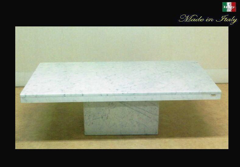イタリア製 天然大理石のセンターテーブル カラーラービアンコ 10P27May16