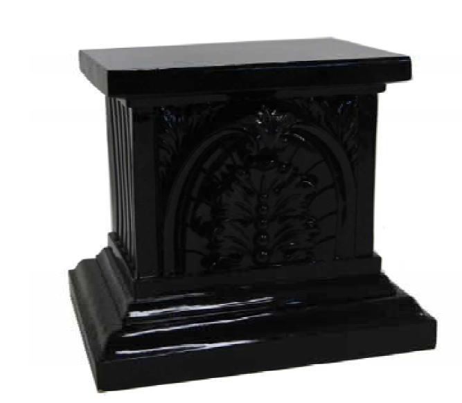 ギリシャ神殿 大理石調ロコココラム ブラック 置台H71 10P27May16
