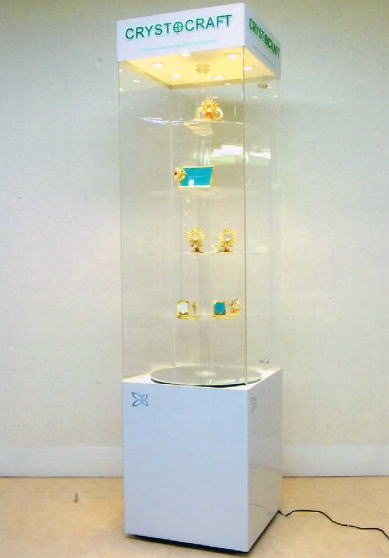【イタリア製】ショーケース ライト(6灯)・キャスター付き(H200) 10P27May16