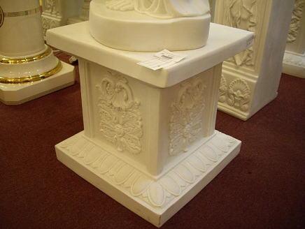 ギリシャ神殿 ロコココラム  置台H48 ラメ入りホワイト 10P27May16
