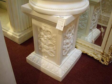ギリシャ神殿 ロコココラム  置台H61 ラメ入りホワイト 10P27May16