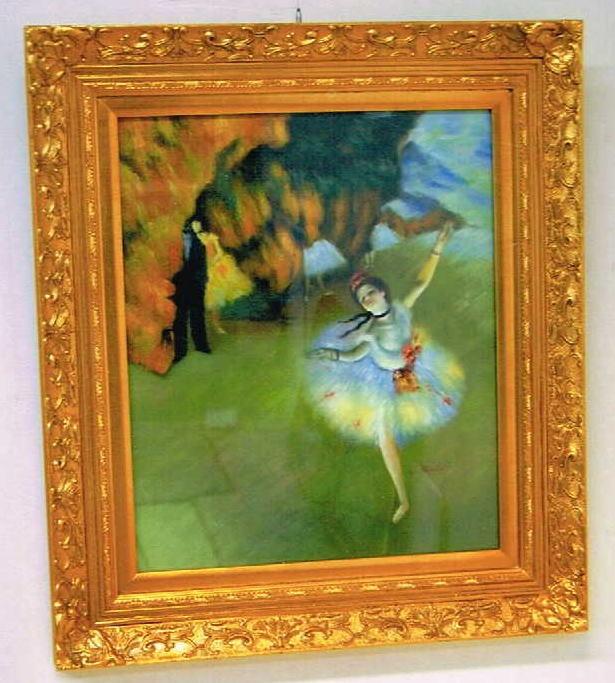額縁 絵額/絵画/壁掛 【油絵 ドガの踊り子】ゴールドフレーム75×84 10P27May16