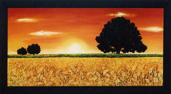 イタリア製アートフレーム 景色 夕焼けの額絵 アート 10P27May16