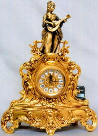 イタリア製 真鍮時計 置物 10P27May16