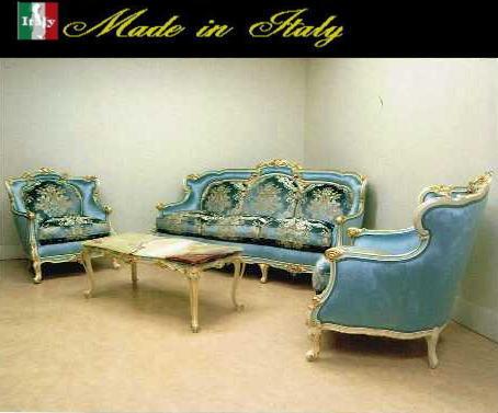 【イタリア家具が安い店】【イタリア製】リビング 三人掛け 3p 一人掛け 1p 4点セット コルチャゴ クラック塗装 10P27May16