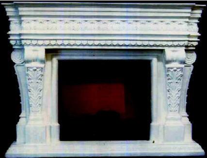 マントルピース(フェイクファイヤー付)ストーンアート 暖炉 10P27May16