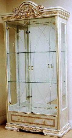 イタリア製 キャビネット ガラスショーケースLEONARD レオナールド 10P27May16