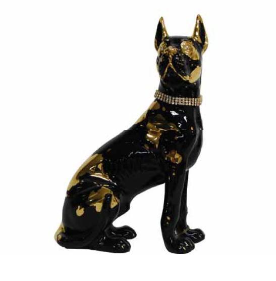 【イタリア】豪華絢爛 高級セラミック スワロフスキーネックレスのアラーノドック 犬の置物【smtb-s】 10P27May16