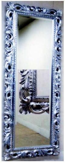 【代引不可】イタリア製壁掛けミラー ウォールミラー 角形 77×198 14kg 10P27May16