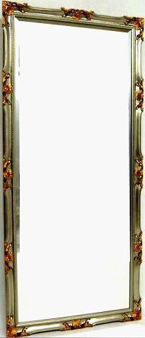 【代引不可】イタリア製壁掛けミラー ウォールミラー 角形シルバー 82×180 20kg 10P27May16